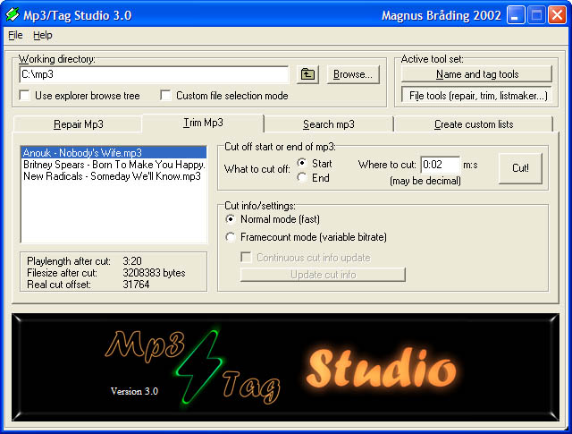 Mp3/Tag Studio 3.0